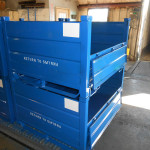 Blue Poweder-coated Steel Bulk Container Photo