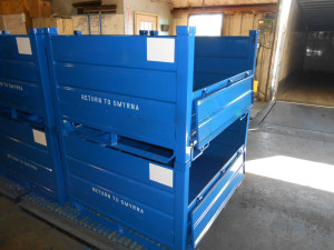 Blue Steel Bulk Containers Photo